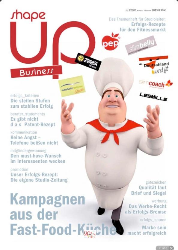 Rüdiger Lehmann im neuen Shape-up Magazin