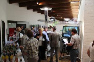 Viele Besucher und hohes Interesse am WiRE Messestand...